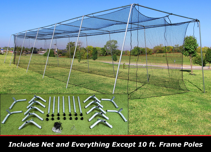 Discount Cimarron 60x12x10 24 Batting Cage Frame And Net Kit