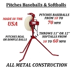 First Pitch Baseline Combo Pitching Machine