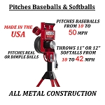 First Pitch Relief Pitcher Baseball & Softball Pitching Machine