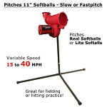 Heater PowerAlley 11-Inch Real Softball Pitching Machine