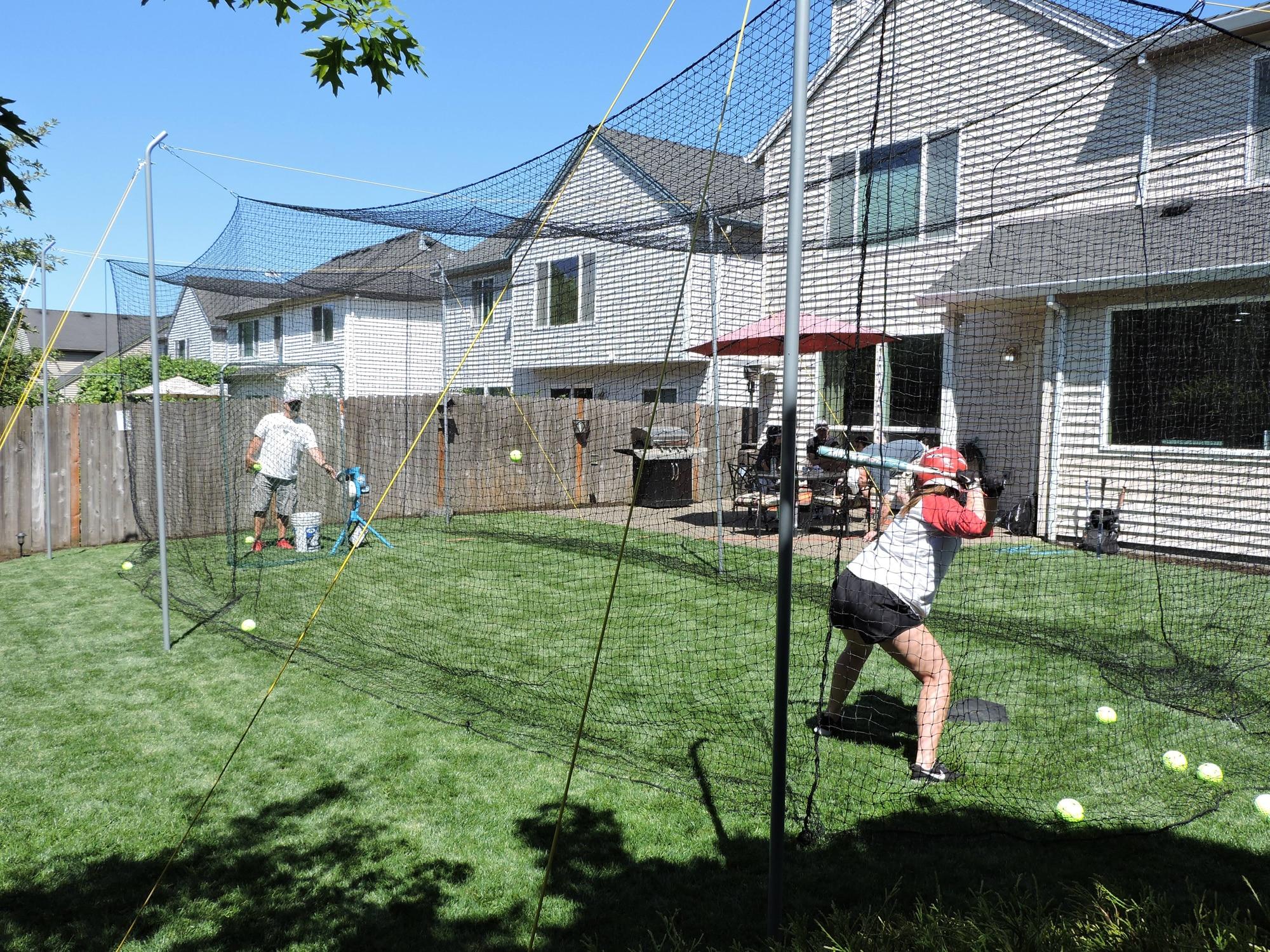 Portable Batting Cages - JUGS Hit at Home Backyard Bating Cage