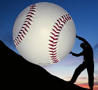 Pushing Giant Baseball Up a Hill
