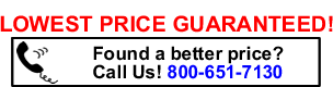 call us for a better price