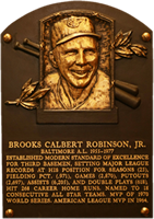 Brooks Robinson Hall of Fame plaque