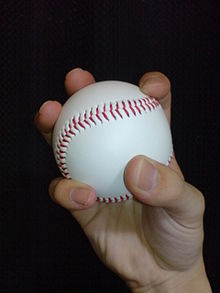 Baseball grip for a changeup