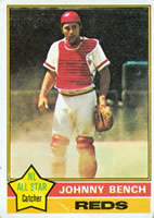 Johnny Bench baseball card
