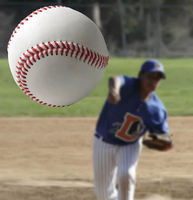 Pitcher throwinf a baseball