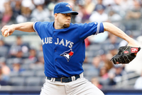 Blue Jays pitcher Steve Delabar
