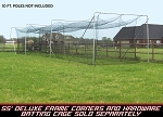Cimarron 55'L x 15.5' W x 12' H Permanent Commercial Batting Cage Kit