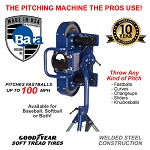 BATA-2 Two Wheel Curveball Pitching Machine