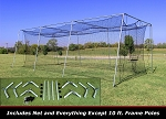 Cimarron 30x12x10 #24 Batting Cage Frame & Net Kit
