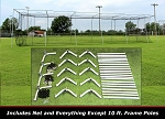 Cimarron 55x12x12 Batting Cage Frame & Net Kit