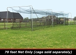Cimarron 70x14x12 #42 Batting Cage Net Only