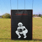 Cimarron 4' x 6' Vinyl Backstop with Catcher Image