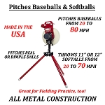 First Pitch XL Combo Baseball & Softball Pitching Machine