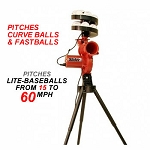 Heater Slider Curve Lite-Ball Pitching Machine & Ball Feeder