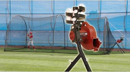 Heater Basehit Pitching Machine Amp Xtender 24 Ft Batting Cage
