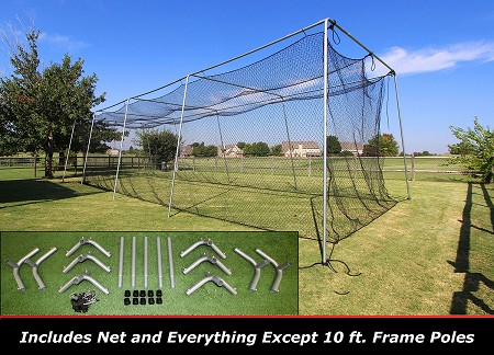 Cimarron 40x12x10 #24 Batting Cage Frame & Net Kit