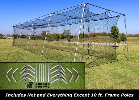 Cimarron 50x12x10 #24 Batting Cage Frame & Net Kit