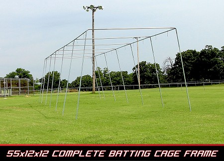 Cimarron 55x12x12 Complete Residential Batting Cage Frame