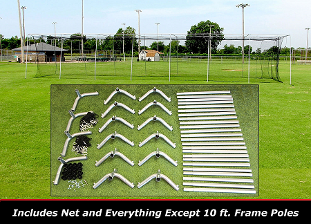 Cimarron 70x14x12 Batting Cage Frame & Net Kit
