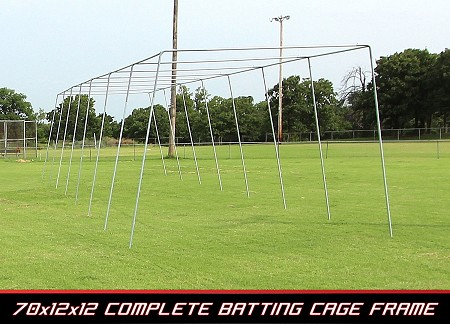 Cimarron 70x14x12 Complete Residential Batting Cage Frame