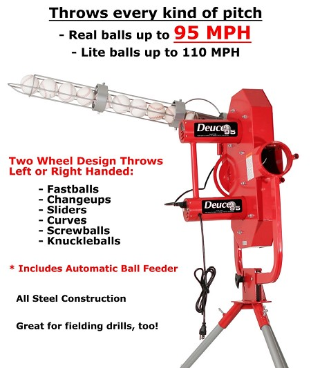 Heater Deuce-95 Two Wheel Curveball Pitching Machine