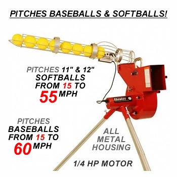 Heater Combo Baseball-Softball Pitching Machine