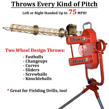 Heater Deuce-75 Two Wheel Curveball Pitching Machine