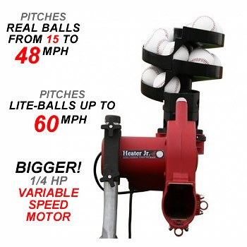 Heater Jr Real Ball Pitching Machine & Ball Feeder