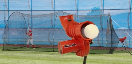 "Heater PowerAlley 11"" Softball Pitching Machine and PowerAlley Batting Cage"