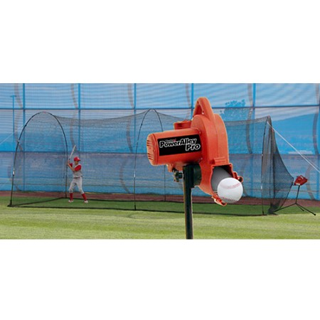 Heater PowerAlley Baseball Pitching Machine and PowerAlley Batting Cage